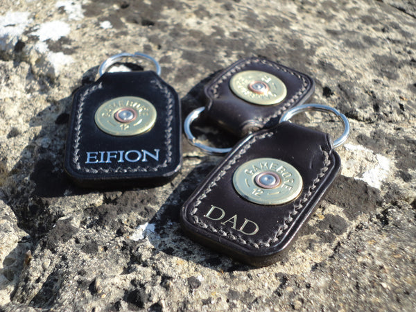 Embossed Shotgun Keyring