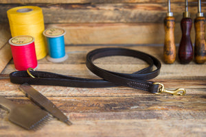 handmade leather dog lead