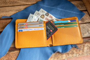 Tan Bi Fold Leather Wallet Handmade