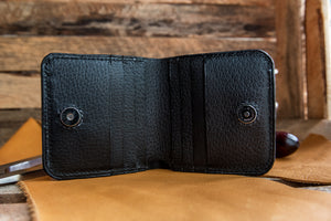 Inverted Handmade Bi Fold Leather Wallet