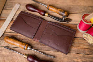 Handmade Leather Brecon Bi-Fold Wallet, J.H.Leather, Maade in Wales