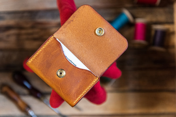 Handmade Leather Business Card Holder