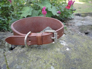 Handmade English Bridle Leather Hound Collar