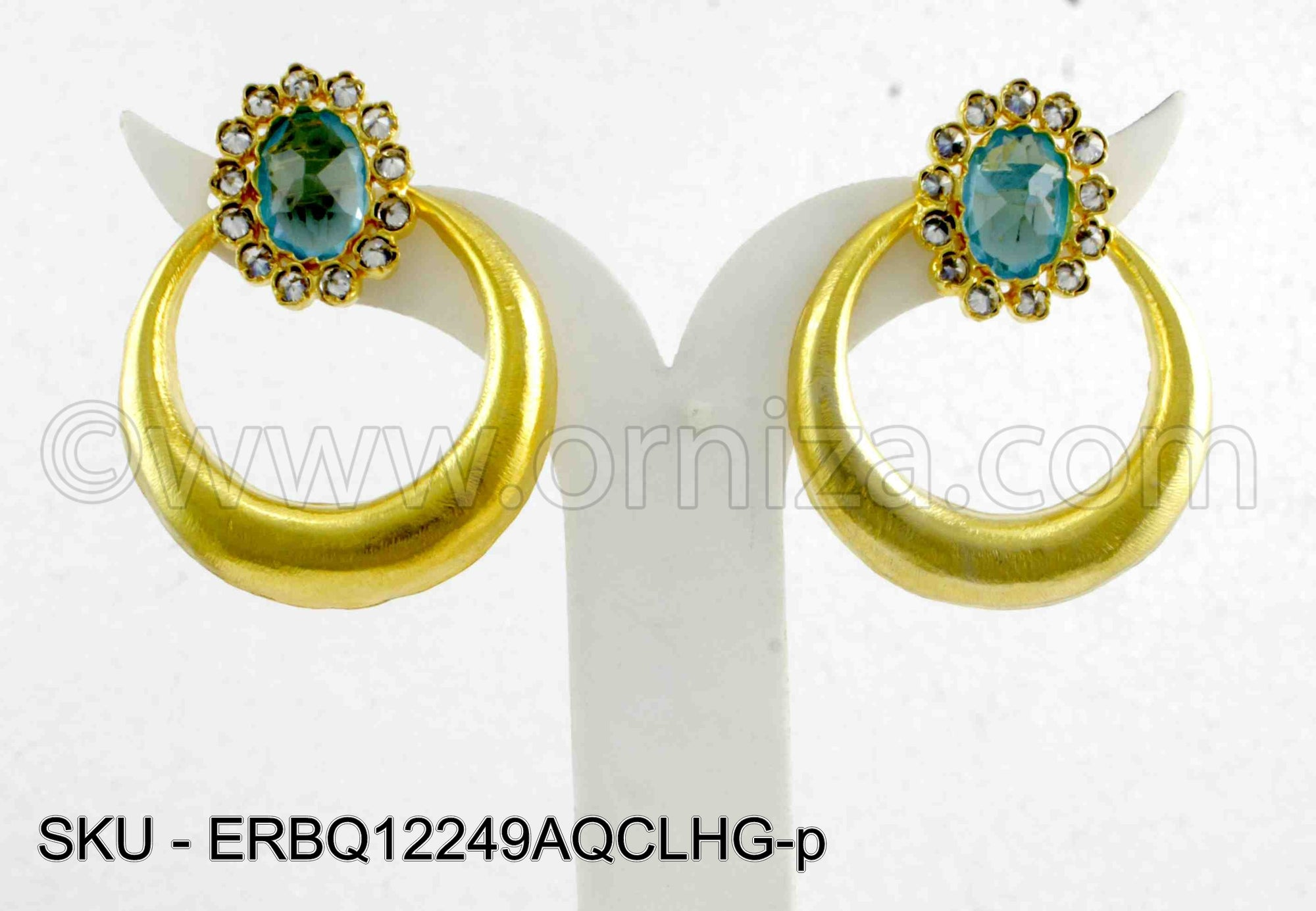 Aqua Blue Boutique Designer Earrings