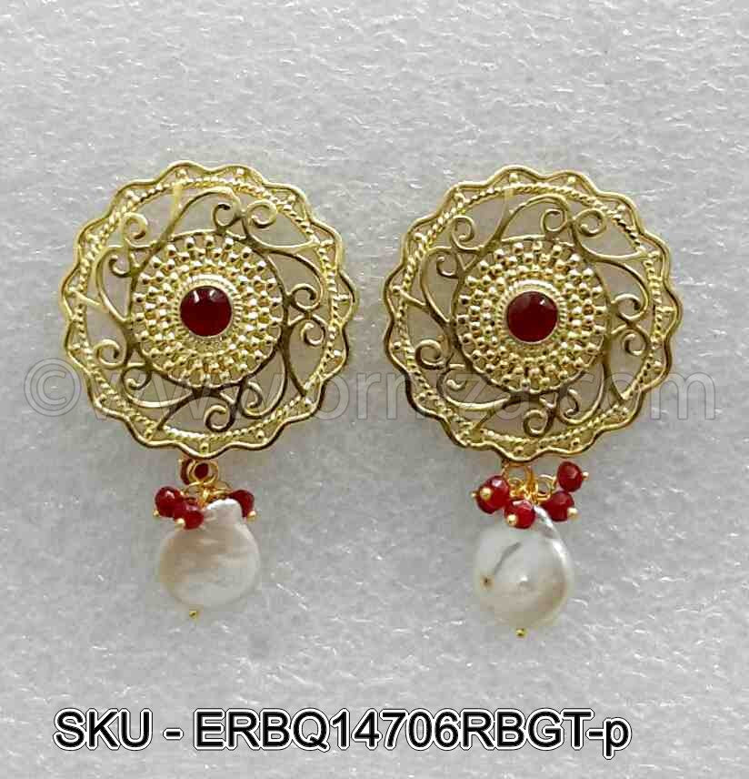Ruby Red Boutique Designer Earrings