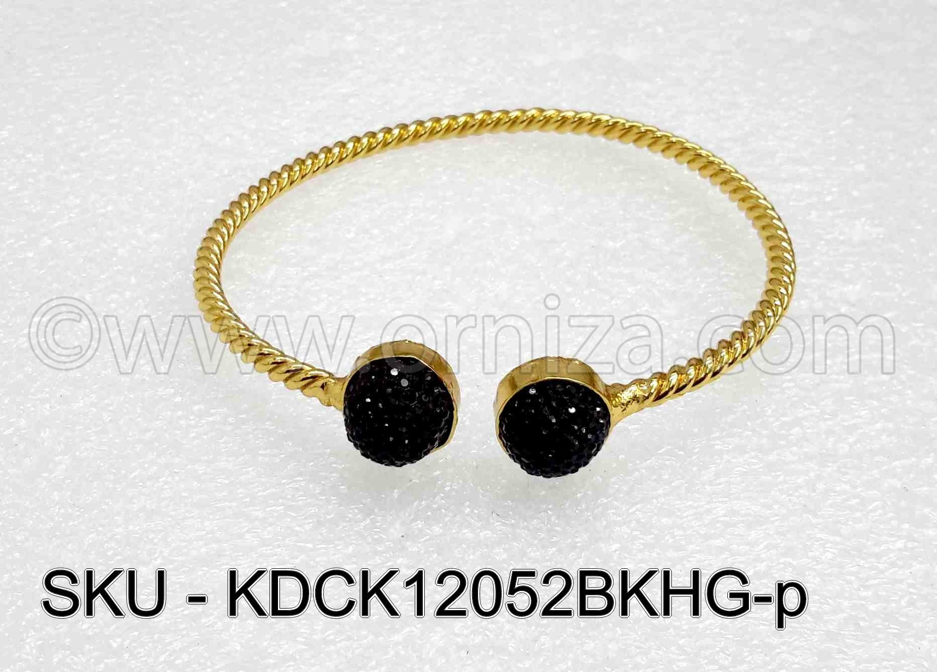 Black Antique Polki Kada