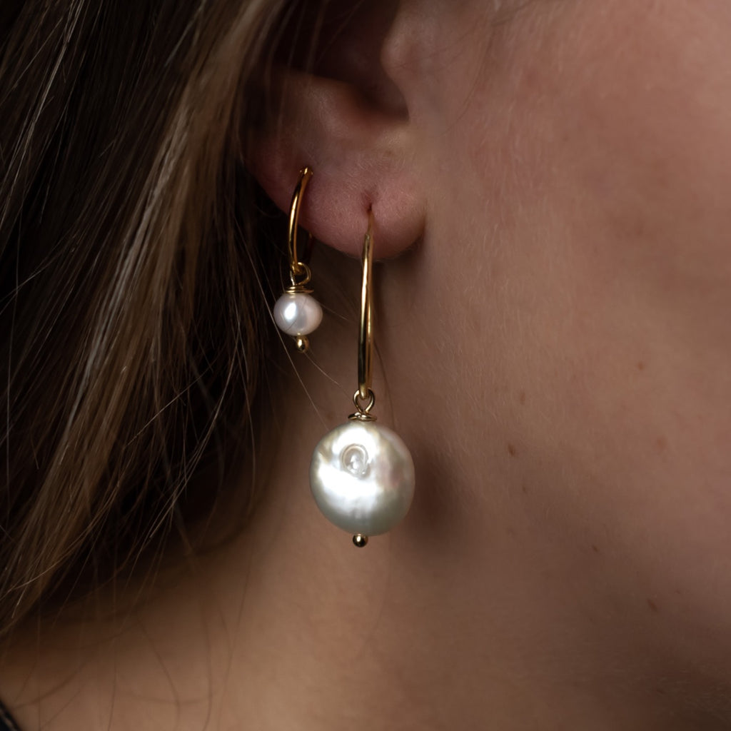 large pearl hoops