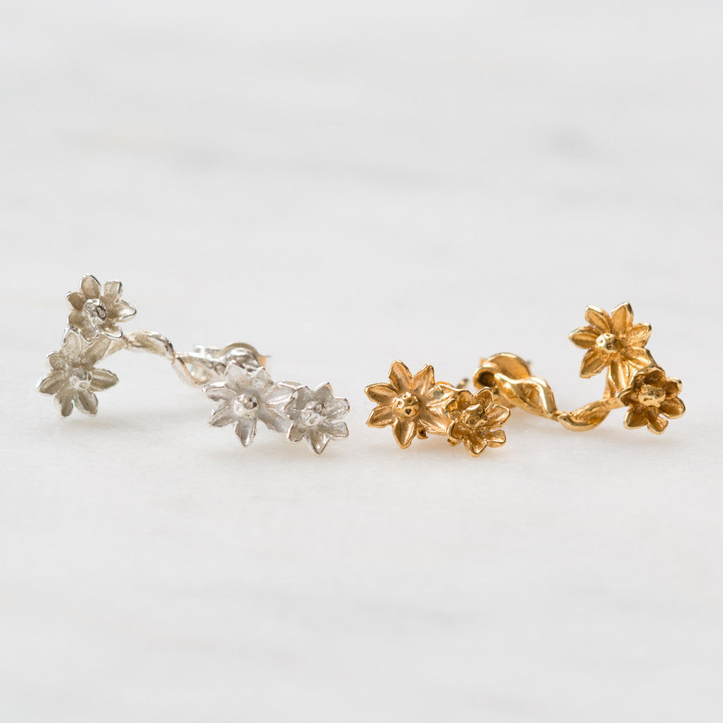 Mismatch flower studs