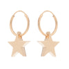 Chunky star hoop earrings