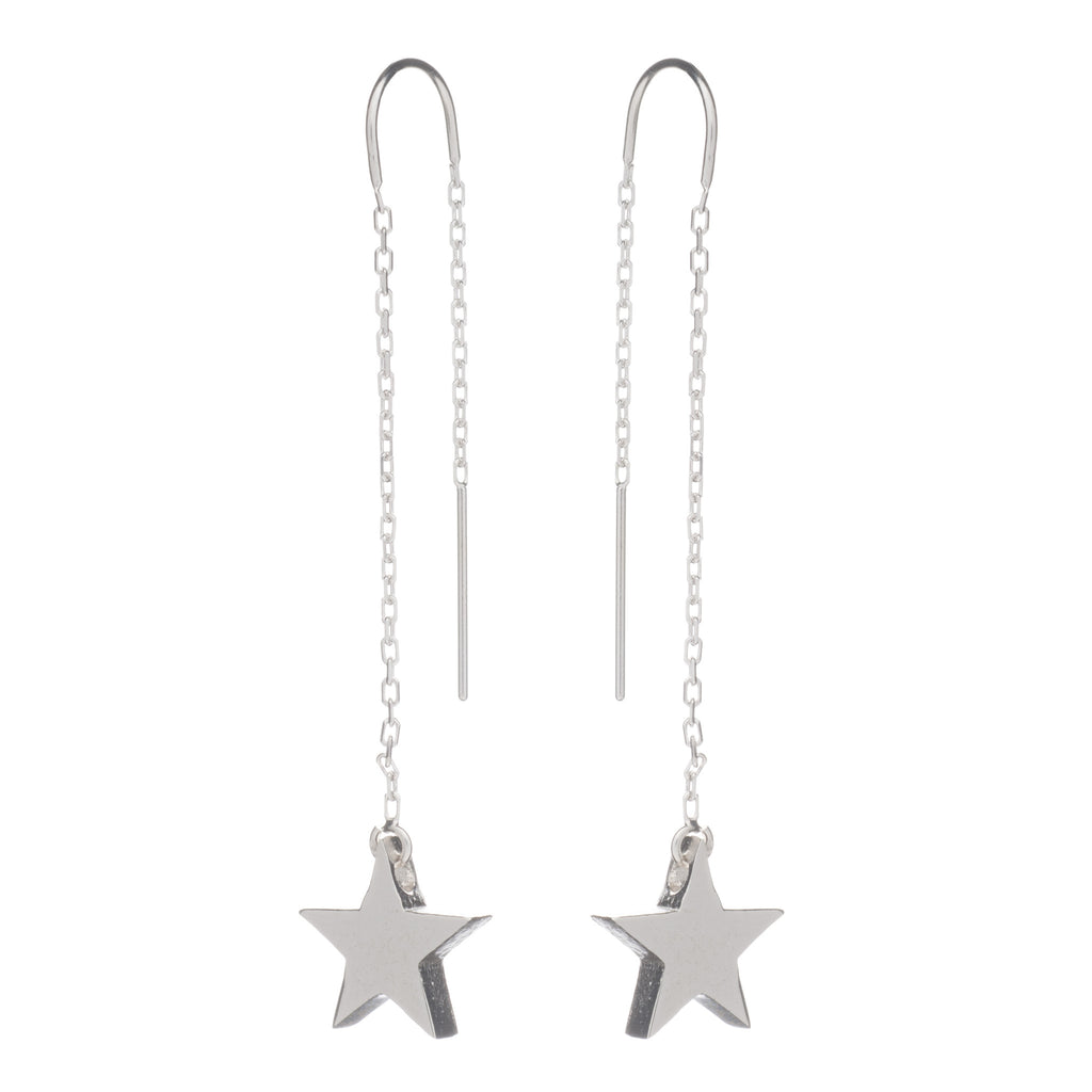 Chunky star drop earrings