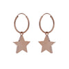Medium star hoop earrings