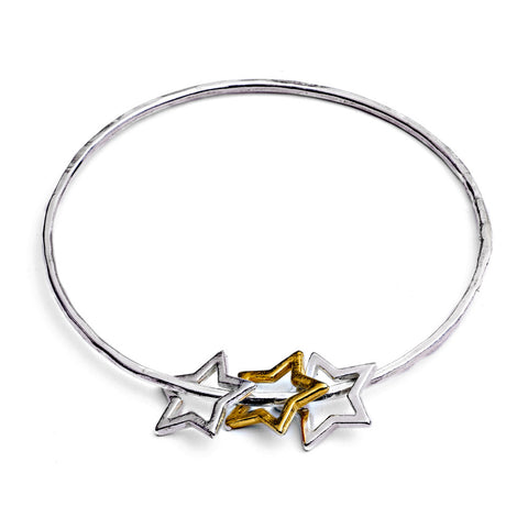 Triple star bangle