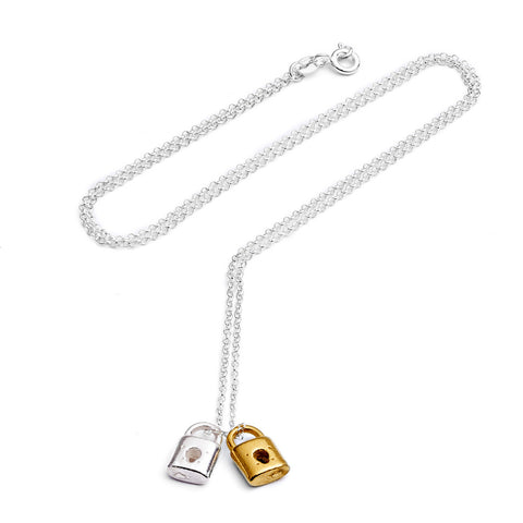 Double lock necklace