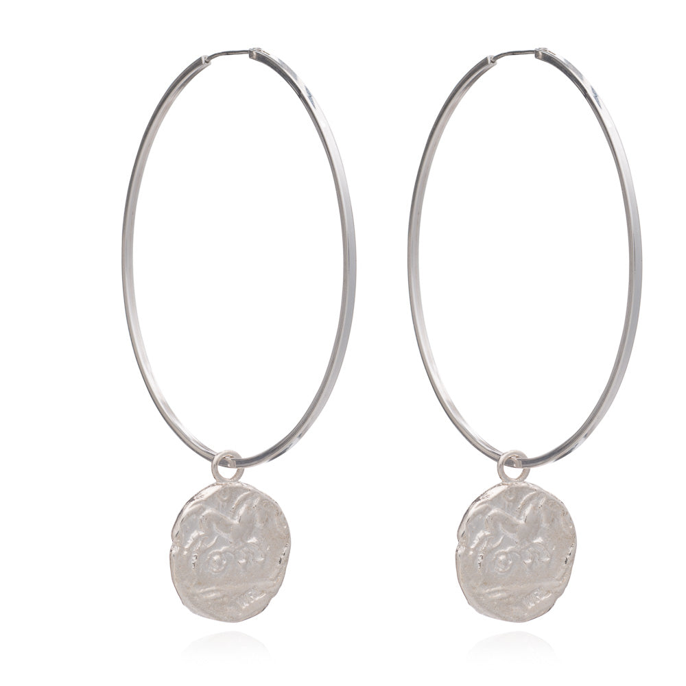 Large Roman coin hoops