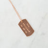 Personalised special date tag necklace