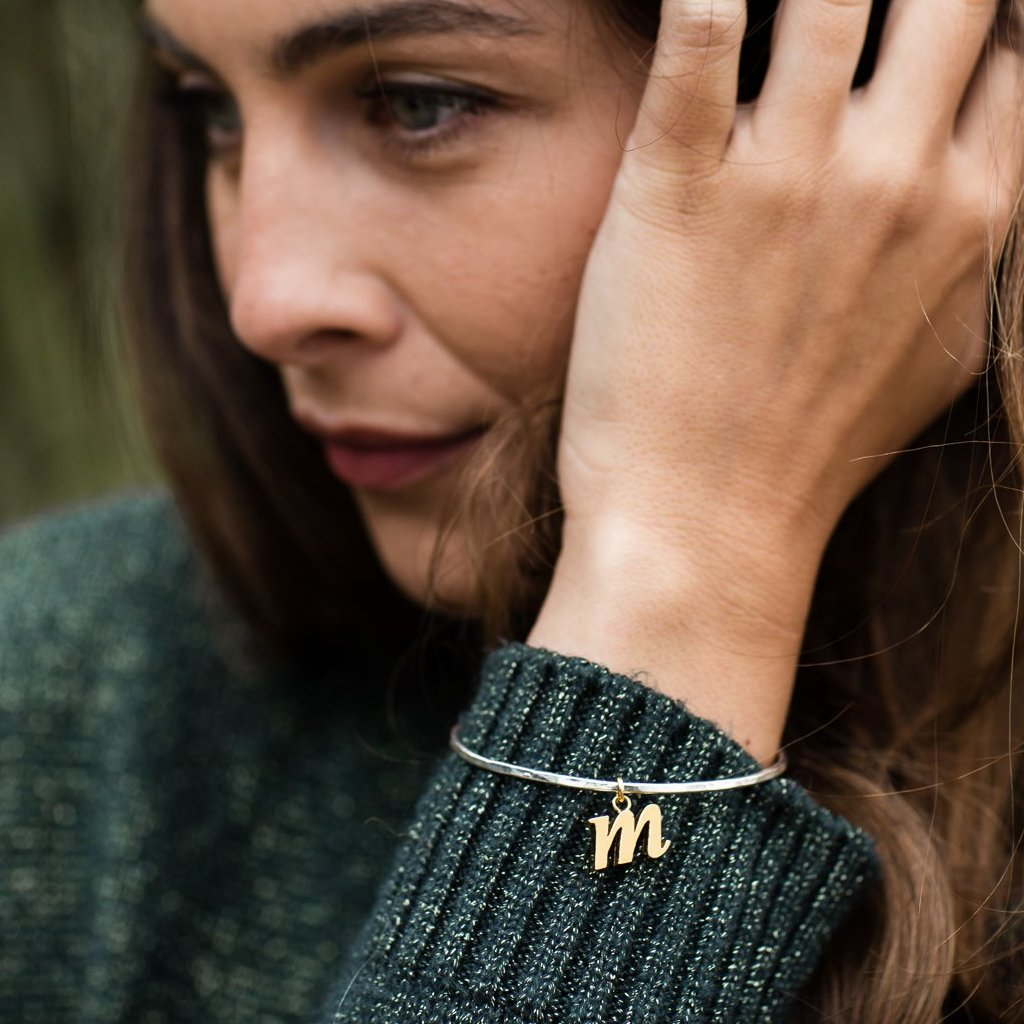 lowercase initial bangles