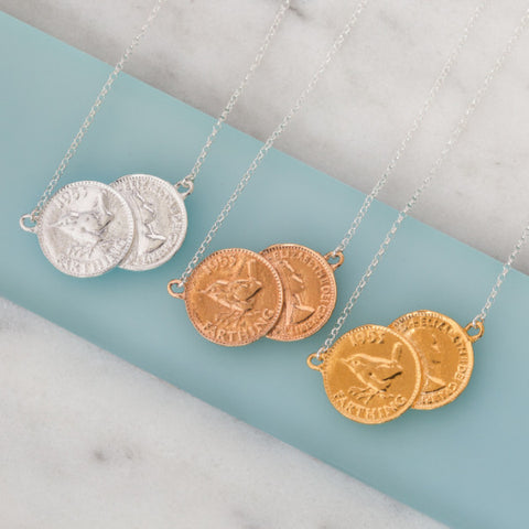 Double farthing necklaces