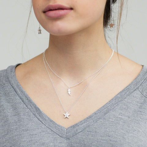 Double layer charm necklace
