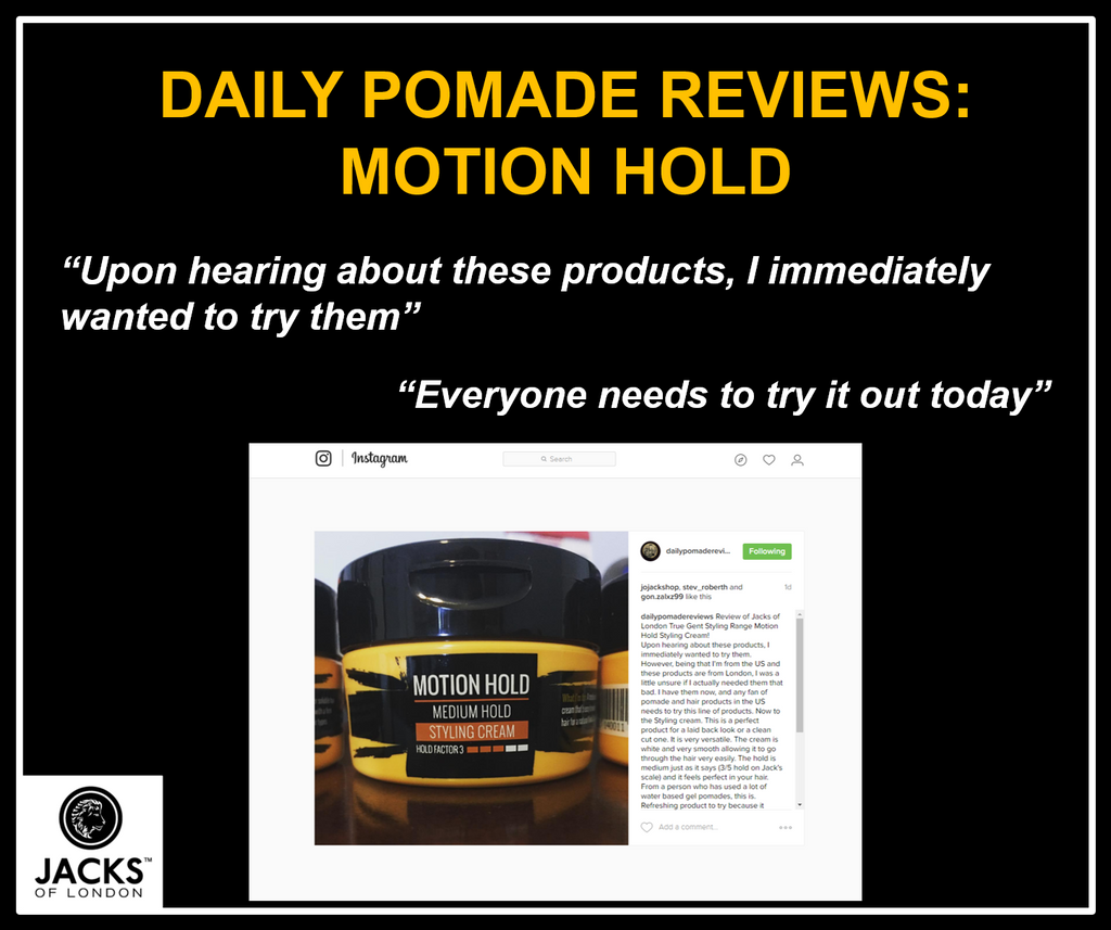 Daily Pomade Reviews Take On Jacks True Gent Motion Hold