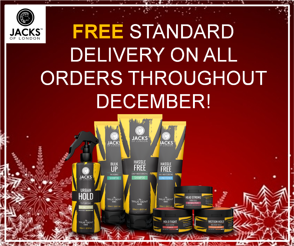 Free Standard Delivery Throughout December!