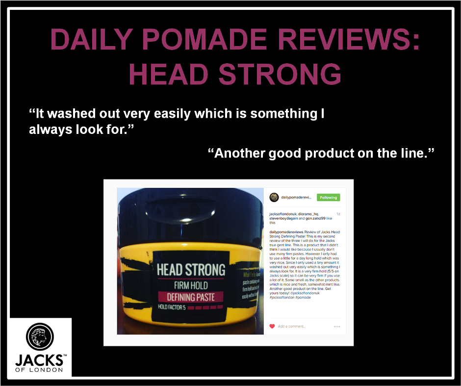 Daily Pomade Reviews Puts Jacks Head Strong To The Test