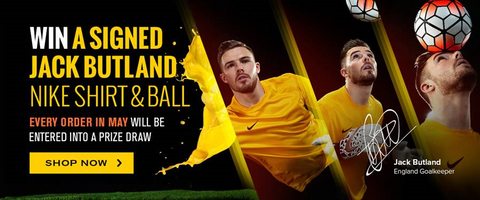 WIN a signed Jack Butland Nike Shirt and Ball with every order in May