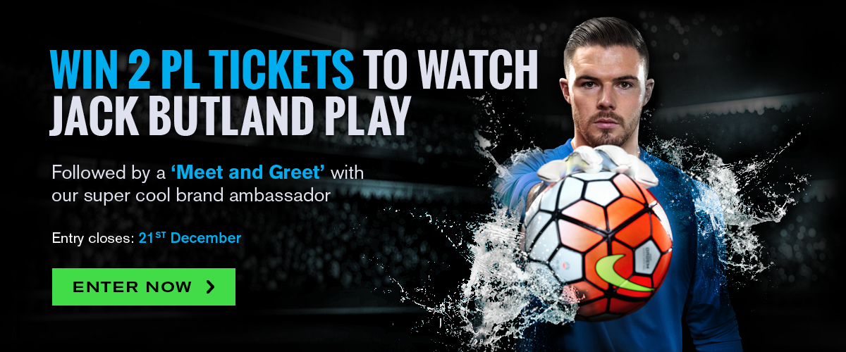 Win 2 Premier League tickets to watch Jack Butland