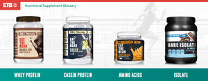 Nutritional Supplement Glossary [ Part 1 - Proteins, Aminos and Isolates ]