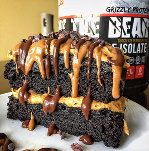 Chocolate Peanut Butter Cake for Two