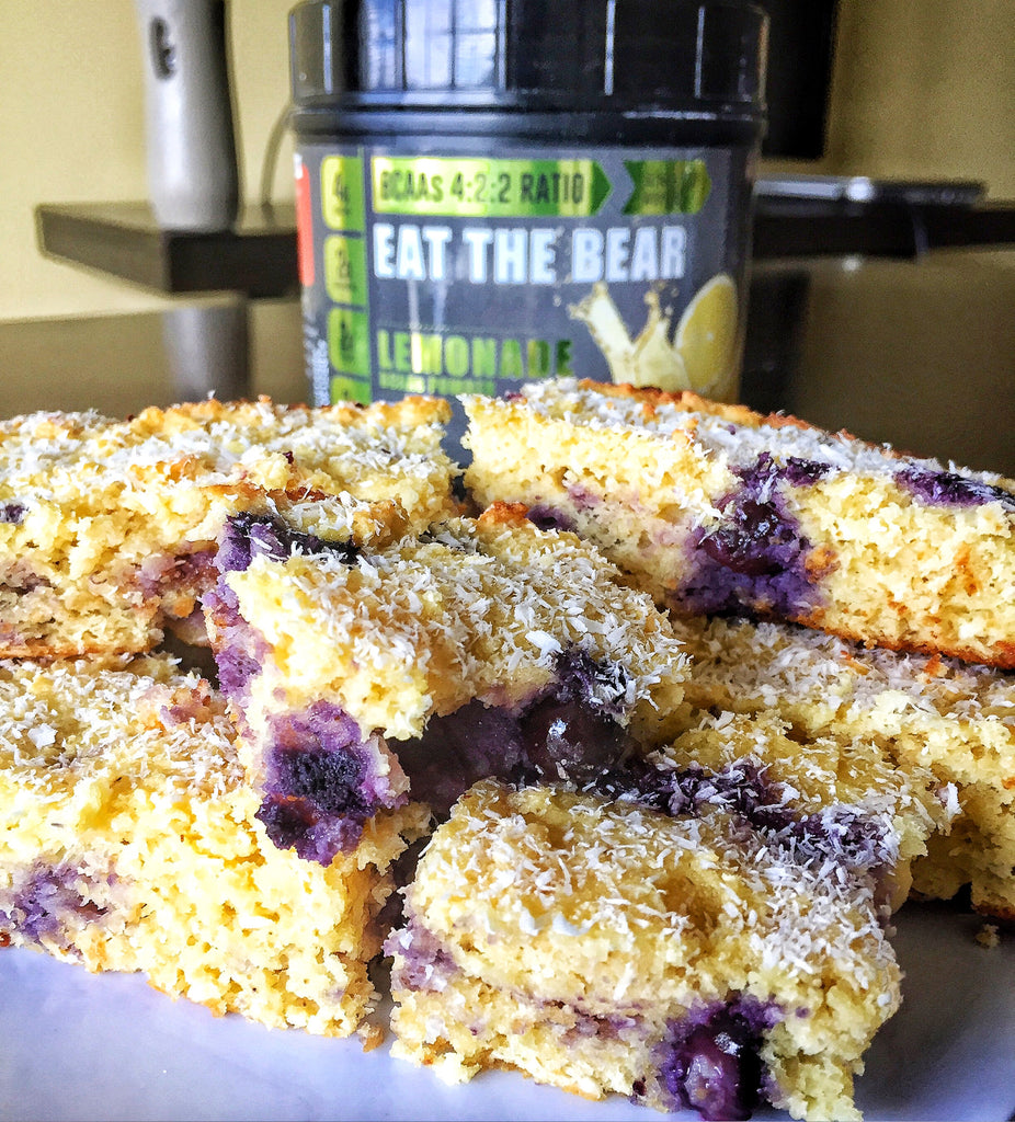 Zesty Coconut Blueberry Lemon Bars Recipe