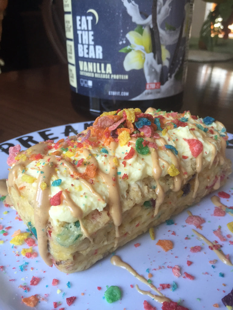 Fruity Pebble Protein Loaf