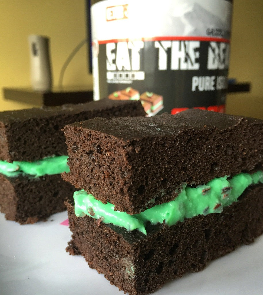 Mint Chocolate Brownie Bars