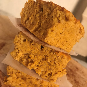 Healthy Pumpkin Protein Squares
