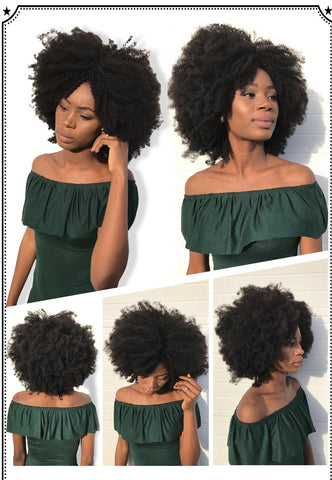 Mongolian Afro Kinky Curly Hair Weave 4B 4C 100% Natural Virgin Human Hair Bundles Extension Dolago Hair Products