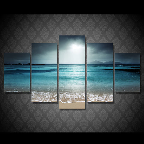 HD Printed beach ocean sea sunset Painting Canvas Print room decor print poster picture canvas Free shipping/ny-4517
