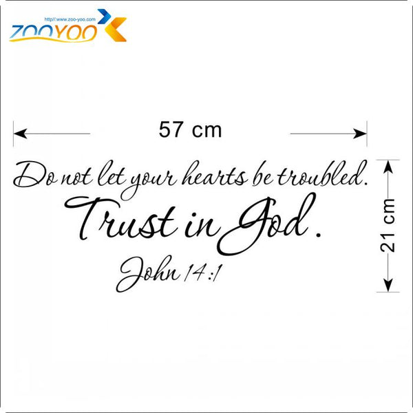 new New Designs Christian Quote Wall Decals Trust Is God Vinyl Wall Stickers Home Decor 8198