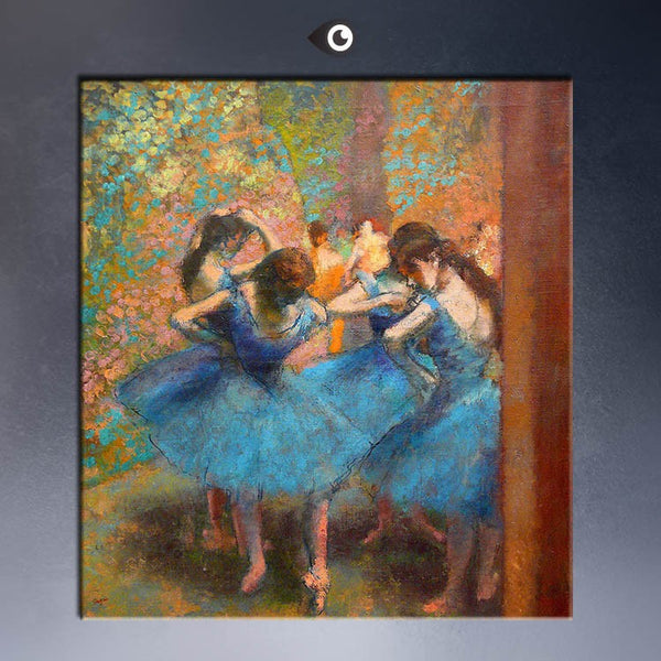 ART POSTER  EDGAR DEGAS  Blue Dancers C1890 CANVAS print  WALL OIL PAINTING