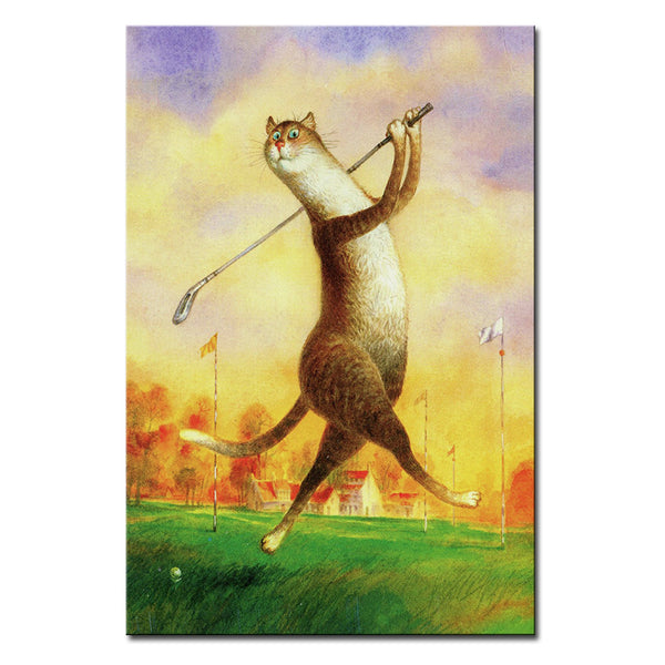 Vladimir Rumyantsev sport cat world oil painting wall Art Picture Paint on Canvas Prints wall painting no framed