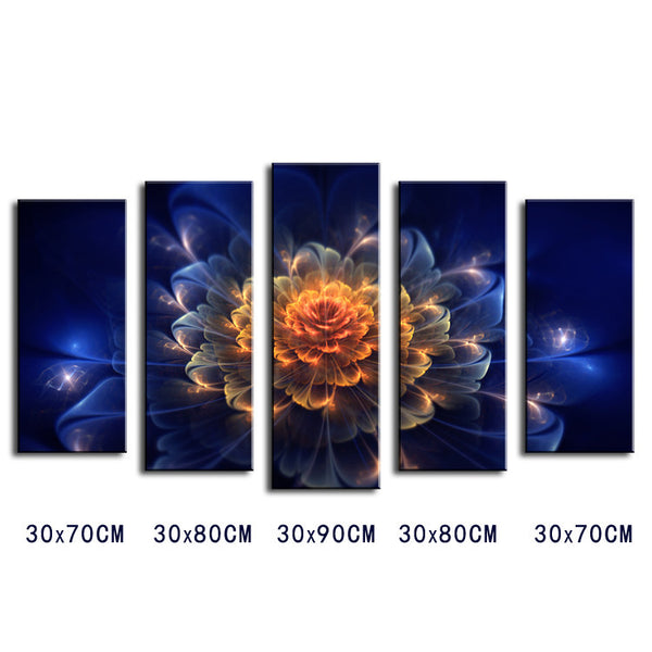 5 piece Wall Paintings Home Decorative Modern Abstract flower Art combination Paintings for Sale No framed!