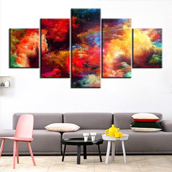 5 pc Set colorful abstract cloud NO FRAME Oil Painting Canvas Prints Wall Art Pictures For Living Room Decorations