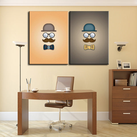 2 pcs morden  office Decor Canvas Wall Art Picture Living Room Canvas Print Modern Painting Large Canvas Art Cheap