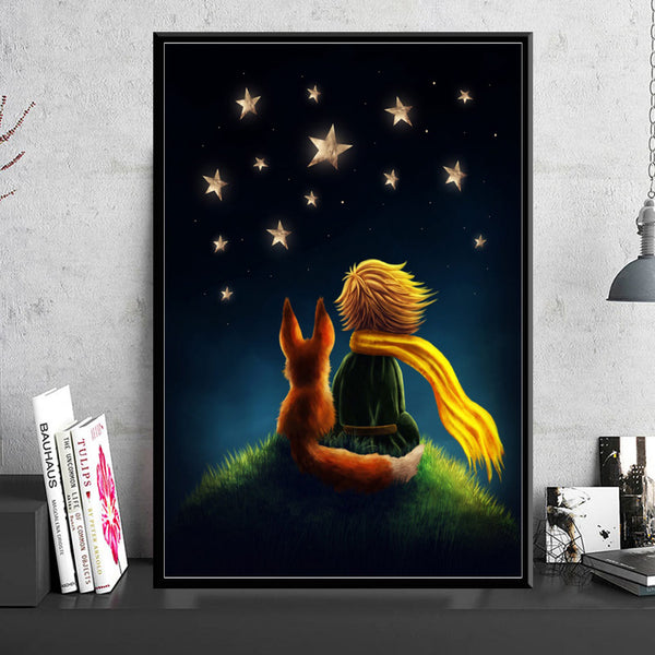 Canvas Painting Wall Artwork Printed Home Decoration The Little Prince Movie Modular Pictures Nordic Style Poster Children Room