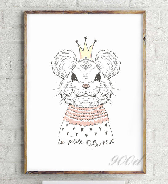 Portrait of cute Animals Canvas Art Print Painting Poster,  Wall Picture for Home Decoration,  Wall Decor FA404