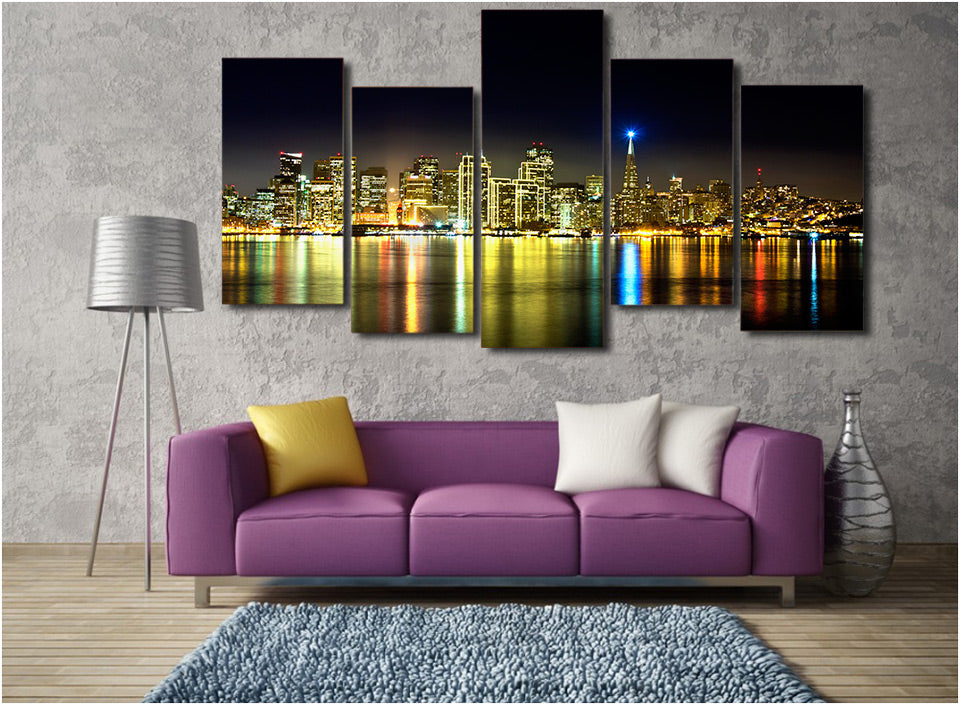 HD Printed The night scenery city Painting on canvas room decoration print poster picture canvas Free shipping/ny-4510