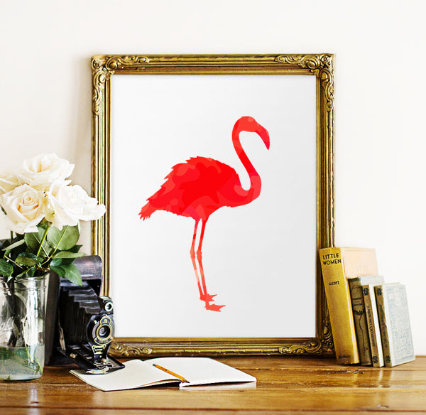 Vintage Flamingo Canvas Art Print Painting Poster, Wall Pictures For Home Decoration wall art decor,FA240-4