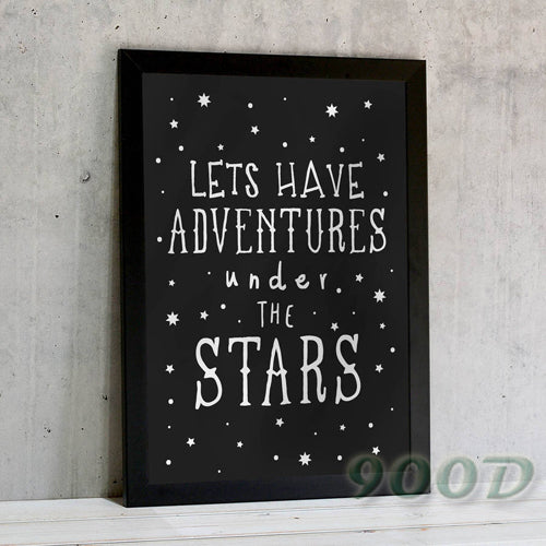 Cartoon Stars And Quote Canvas Art Print  Poster, Wall Pictures For child Room Home Decoration, Frame not include 164-4