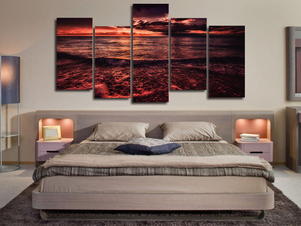 HD Printed sea sunset surf horizon Painting on canvas room decoration print poster picture canvas Free shipping/ny-4564