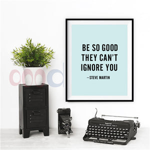 Inspiration Quote Canvas Art Print, Wall Pictures Home Decoration Print On Canvas, Painting Poster Frame not include FA117
