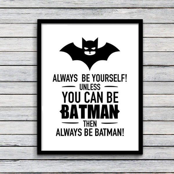 Nordic Posters And Prints Wall Art batman kids room Art Print Wall Pictures For Living Room Kids Room Batman Poster Unframed