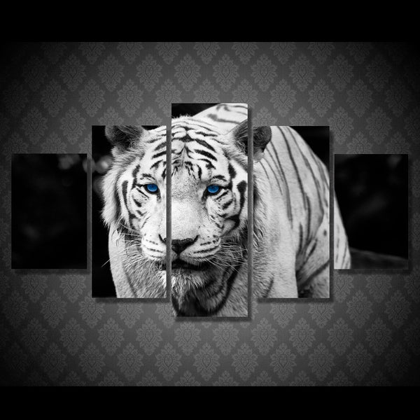 HD Printed White Tiger Landscape Group Painting room decor print poster picture canvas Free shipping/ny-328